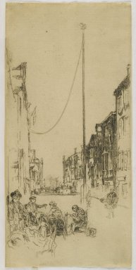 James Abbott McNeill Whistler (American, 1834-1903). <em>The Mast</em>, 1880. Etching on paper, Sheet (trimmed to plate): 13 1/2 x 6 7/16 in. (34.3 x 16.4 cm). Brooklyn Museum, Gift of Mrs. Charles Pratt, 57.188.72 (Photo: Brooklyn Museum, 57.188.72_PS6.jpg)