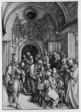 Albrecht Dürer (German, 1471-1528). <em>The Circumcision of Christ</em>, ca. 1505. Woodcut on laid paper, 11 3/4 x 8 1/4 in. (29.8 x 21 cm). Brooklyn Museum, Gift of Mrs. Charles Pratt, 57.188.8 (Photo: Brooklyn Museum, 57.188.8_bw.jpg)