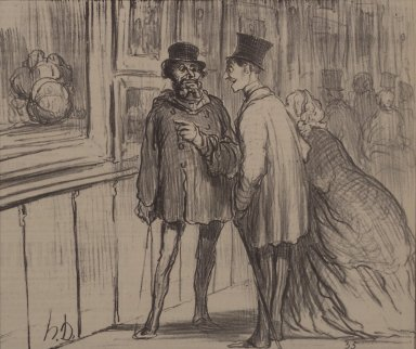 Honoré Daumier (French, 1808-1879). <em>Le Peintre Qui A Eu un Tableau Refusé</em>, April 27, 1859. Lithograph on newsprint, Sheet: 11 3/4 x 11 7/16 in. (29.8 x 29.1 cm). Brooklyn Museum, Anonymous gift, 57.49.1 (Photo: Brooklyn Museum, 57.49.1.jpg)