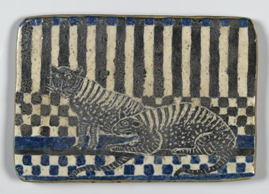 Unknown. <em>Tile</em>, 19th century. Glazed earthenware, 5 7/8 x 4 in. (14.9 x 10.2 cm). Brooklyn Museum, Gift of Huldah Cail Lorimer in memory of George Burford Lorimer, 57.75.29 (Photo: Brooklyn Museum, 57.75.29_side1_PS2.jpg)