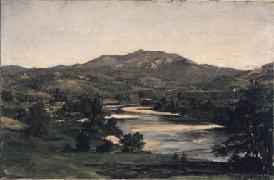 Winckworth Allan Gay (American, 1821-1910). <em>Study for Welch Mountain from West Compton, New Hampshire</em>, 1856. Oil on paperboard, 8 1/8 x 12 3/16 in. (20.6 x 31 cm). Brooklyn Museum, Dick S. Ramsay Fund, 58.156 (Photo: Brooklyn Museum, 58.156_transp3346.jpg)