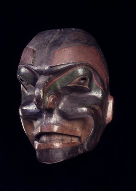 Possibly Haida. <em>Talking Man Mask</em>, late 19th century. Wood, pigment, 11 13/16 x 9 1/2 in. (30 x 24.1 cm). Brooklyn Museum, Gift of M. C. Eaton, 58.181.4. Creative Commons-BY (Photo: Brooklyn Museum, 58.181.4.jpg)