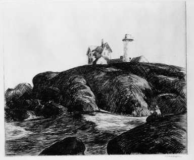 Edward Hopper (American, 1882-1967). <em>Maine Coast</em>, 1923. Etching Brooklyn Museum, Dick S. Ramsay Fund, 58.189. © artist or artist's estate (Photo: Brooklyn Museum, 58.189_bw.jpg)