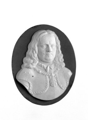 Josiah Wedgwood & Sons Ltd. (founded 1759). <em>Portrait Medallion</em>, late 18th century. Jasperware (stoneware) Brooklyn Museum, Gift of Emily Winthrop Miles, 58.194.43. Creative Commons-BY (Photo: Brooklyn Museum, 58.194.43_bw.jpg)