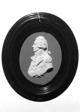 Josiah Wedgwood & Sons Ltd. (founded 1759). <em>Portrait Medallion</em>, ca. 1800. Jasperware Brooklyn Museum, Gift of Emily Winthrop Miles, 58.194.45. Creative Commons-BY (Photo: Brooklyn Museum, 58.194.45_bw.jpg)