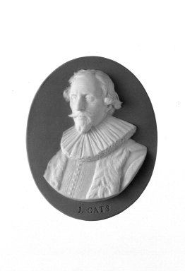 Josiah Wedgwood & Sons Ltd. (founded 1759). <em>Portrait Medallion</em>, ca. 1785. Jasperware Brooklyn Museum, Gift of Emily Winthrop Miles, 58.194.47. Creative Commons-BY (Photo: Brooklyn Museum, 58.194.47_bw.jpg)