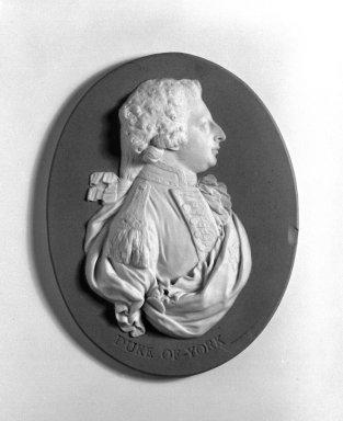 Wedgwood and Company (1860-1965). <em>Portrait Medallion</em>, ca. 1800. Jasperware Brooklyn Museum, Gift of Emily Winthrop Miles, 58.194.4. Creative Commons-BY (Photo: Brooklyn Museum, 58.194.4_bw.jpg)