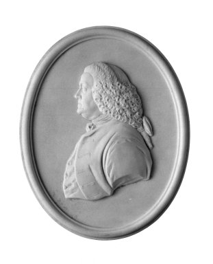 Wedgwood and Company (1860-1965). <em>Portrait Medallion</em>, ca. 1780. Jasperware, glass Brooklyn Museum, Gift of Emily Winthrop Miles, 58.194.53. Creative Commons-BY (Photo: Brooklyn Museum, 58.194.53_bw.jpg)