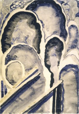Georgia O'Keeffe (American, 1887-1986). <em>Blue #1</em>, 1916. Watercolor, graphite, on paper, 15 15/16 x 10 15/16 in.  (40.5 x 27.8 cm). Brooklyn Museum, Bequest of Mary T. Cockcroft, by exchange, 58.73 (Photo: Brooklyn Museum, 58.73.jpg)