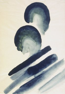 Georgia O'Keeffe (American, 1887-1986). <em>Blue #2</em>, 1916. Watercolor on paper, 15 7/8 x 10 15/16 in.  (40.3 x 27.8 cm). Brooklyn Museum, Bequest of Mary T. Cockcroft, by exchange, 58.74 (Photo: Brooklyn Museum, 58.74.jpg)