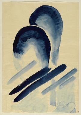 Georgia O'Keeffe (American, 1887-1986). <em>Blue #3</em>, 1916. Watercolor on paper, 15 7/8 x 10 15/16 in.  (40.3 x 27.8 cm). Brooklyn Museum, Dick S. Ramsay Fund, 58.75 (Photo: Brooklyn Museum, 58.75_PS2.jpg)