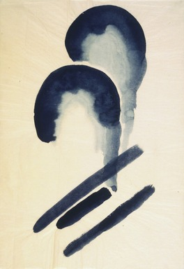 Georgia O'Keeffe (American, 1887-1986). <em>Blue #4</em>, 1916. Watercolor on paper, 15 15/16 x 10 15/16 in.  (40.5 x 27.8 cm). Brooklyn Museum, Dick S. Ramsay Fund, 58.76 (Photo: Brooklyn Museum, 58.76.jpg)