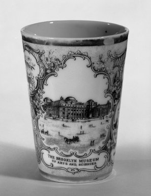 Victoria Porcelain Factory. <em>Tumbler</em>, ca. 1900. Porcelain Brooklyn Museum, Gift of Arthur Fischer, 58.99. Creative Commons-BY (Photo: Brooklyn Museum, 58.99_view1_bw.jpg)