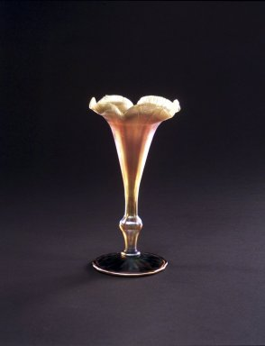 Martin Bach (American, 1862-1921). <em>Vase</em>, ca. 1905. Opalescent glass, 7 1/2 x 3 3/4 in. (19.1 x 9.5 cm). Brooklyn Museum, Gift of Mrs. Alfred Zoebisch, 59.143.16. Creative Commons-BY (Photo: Brooklyn Museum, 59.143.16_transp2102.jpg)