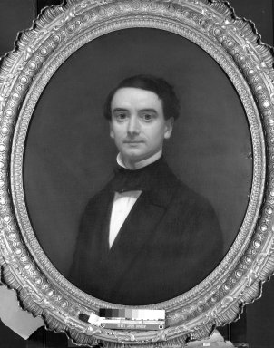 Unknown. <em>Portrait of Herman Stutzer</em>., 40 x 34 in. (101.6 x 86.4 cm). Brooklyn Museum, Gift of Mrs. Alfred Zoebisch, 59.143.38 (Photo: Brooklyn Museum, 59.143.38_framed_bw.jpg)