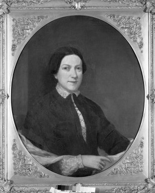 Unknown. <em>Portrait of Ruth Middlebrook (Mrs. Stephen Allen)</em>. Oil, frame: 38 1/2 x 34 in. (97.8 x 86.4 cm). Brooklyn Museum, Gift of Mrs. Alfred Zoebisch, 59.143.39 (Photo: Brooklyn Museum, 59.143.39_framed_bw.jpg)