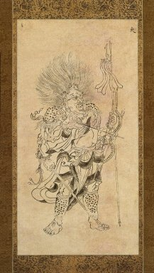 <em>Iconographic Drawing of Kayosei, One of the Seven Constellations</em>, late 11th-early 12th century. Hanging scroll, ink on paper, Image: 21 5/8 x 11 1/4 in. (55 x 28.5 cm). Brooklyn Museum, Frank L. Babbott Fund, Carll H. de Silver Fund, and Caroline A.L. Pratt Fund, 59.177 (Photo: Brooklyn Museum, 59.177_IMLS_SL2.jpg)