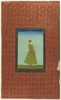 Indian. <em>Islam Khan Rumi</em>, 1875-1900. Opaque watercolor and gold on paper, sheet: 19 5/8 x 11 7/8 in.  (49.8 x 30.2 cm). Brooklyn Museum, Gift of James S. Hays, 59.205.2 (Photo: Brooklyn Museum, 59.205.2_IMLS_PS3.jpg)