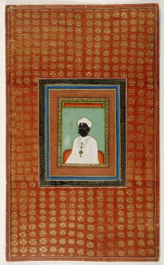Indian. <em>Raja Mahadji Sindhia</em>, 1875-1900. Opaque watercolor and gold on paper, sheet: 19 11/16 x 11 3/4 in.  (50.0 x 29.8 cm). Brooklyn Museum, Gift of James S. Hays, 59.205.3 (Photo: Brooklyn Museum, 59.205.3_IMLS_SL2.jpg)