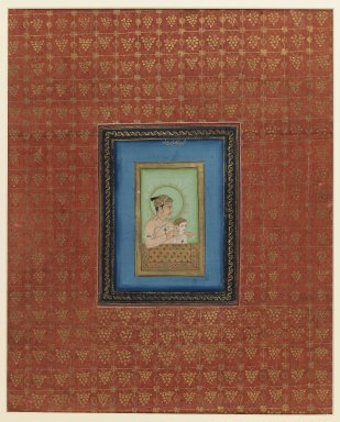 Indian. <em>Akbar and One of his Sons or Grandsons</em>, 1875-1900. Opaque watercolor and gold on paper, sheet: 19 3/4 x 11 7/8 in.  (50.2 x 30.2 cm). Brooklyn Museum, Gift of James S. Hays, 59.205.6 (Photo: Brooklyn Museum, 59.205.6_IMLS_PS3.jpg)