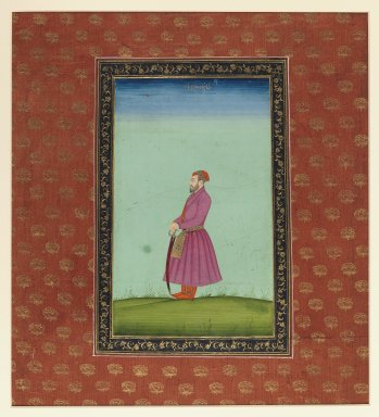 Indian. <em>Shahzadeh Wala Jah</em>, 1875-1900. Opaque watercolor and gold on paper, sheet: 19 5/8 x 11 13/16 in.  (49.8 x 30.0 cm). Brooklyn Museum, Gift of James S. Hays, 59.205.8 (Photo: Brooklyn Museum, 59.205.8_IMLS_PS3.jpg)