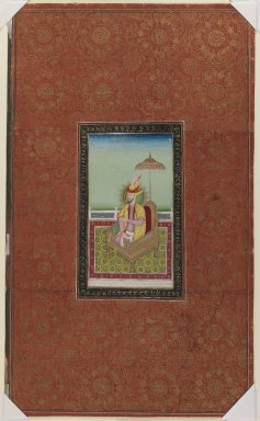 Indian. <em>Sultan Muhammad, son of Miran Shah</em>, 1875-1900. Opaque watercolor and gold on paper, sheet: 19 5/8 x 11 3/4 in.  (49.8 x 29.8 cm). Brooklyn Museum, Gift of Philip P. Weisberg, 59.206.10 (Photo: Brooklyn Museum, 59.206.10_IMLS_PS3.jpg)