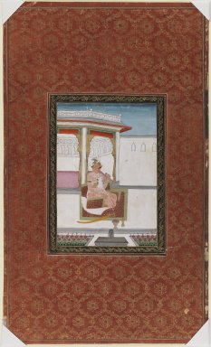 Indian. <em>Chandhu La'l</em>, 1875-1900. Opaque watercolor and gold on paper, sheet: 19 11/16 x 11 13/16 in.  (50.0 x 30.0 cm). Brooklyn Museum, Gift of Philip P. Weisberg, 59.206.2 (Photo: Brooklyn Museum, 59.206.2_IMLS_PS3.jpg)