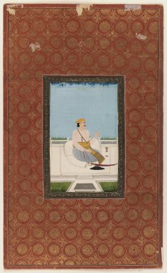 Indian. <em>Niaz Bahadur Khan</em>, 1875-1900. Opaque watercolor and gold on paper, sheet: 19 3/4 x 11 7/8 in.  (50.2 x 30.2 cm). Brooklyn Museum, Gift of Philip P. Weisberg, 59.206.4 (Photo: Brooklyn Museum, 59.206.4_IMLS_PS3.jpg)