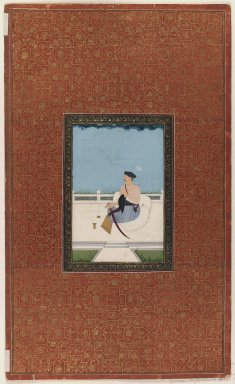 Indian. <em>Sardar al-Daula (?)</em>, 1875-1900. Opaque watercolor and gold on paper, sheet: 19 3/4 x 11 7/8 in.  (50.2 x 30.2 cm). Brooklyn Museum, Gift of Philip P. Weisberg, 59.206.5 (Photo: Brooklyn Museum, 59.206.5_IMLS_PS3.jpg)