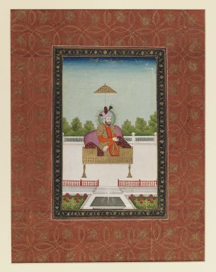 Indian. <em>Miran Shah</em>, 1875-1900. Opaque watercolor and gold on paper, sheet: 19 5/8 x 11 3/4 in.  (49.8 x 29.8 cm). Brooklyn Museum, Gift of Philip P. Weisberg, 59.206.9 (Photo: Brooklyn Museum, 59.206.9_IMLS_PS3.jpg)