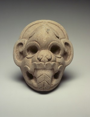 Classic Veracruz. <em>Ceremonial Hacha in the Form of a Monkey's Head</em>, 700-900. Stone, 7 1/4 x 6 1/2 x 4 in. (18.4 x 16.5 x 10.2 cm). Brooklyn Museum, By exchange, 59.237.2. Creative Commons-BY (Photo: Brooklyn Museum, 59.237.2.jpg)
