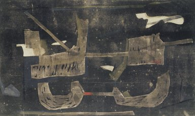 Adja Yunkers (American, born Latvia, 1900-1983). <em>Ostia Antica IV. Roma</em>, 1955. Woodcut on paper, 21 1/4 x 35 1/4 in. (54 x 89.5 cm). Brooklyn Museum, Dick S. Ramsay Fund, 59.32. © artist or artist's estate (Photo: Brooklyn Museum, 59.32_transpc001.jpg)