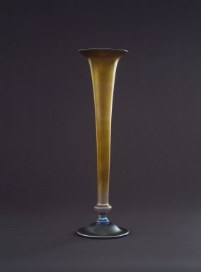 Louis Comfort Tiffany (American, 1848-1933). <em>Vase</em>, ca. 1900. Favrile glass, 18 1/4 x 5 1/4 x 5 1/4 in. (46.4 x 13.3 x 13.3 cm). Brooklyn Museum, Gift of Mary Berman in memory of Mr. and Mrs. Harry Berman, 59.78.1. Creative Commons-BY (Photo: Brooklyn Museum, 59.78.1.jpg)