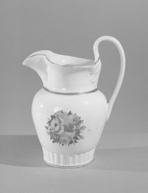 American. <em>Vase Shaped Pitcher</em>, ca.1820. Tucker porcelain Brooklyn Museum, Gift of Philip H. Hammerslough, 59.81.1. Creative Commons-BY (Photo: Brooklyn Museum, 59.81.1_acetate_bw.jpg)