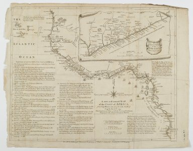 Malachy Postlethwayt (1707?-1767). <em>Map of the Coast of Africa</em>, 1753. Engraving, Sheet: 20 7/8 x 16 5/16 in. (53 x 41.5 cm). Brooklyn Museum, Gift of Mrs. M.D.C. Crawford and Adelaide Goan, 60.108.82h (Photo: Brooklyn Museum, 60.108.82h_PS2.jpg)