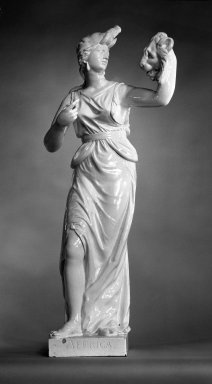 <em>Allegorical Figure of Africa from the Four Continents</em>. White earthenware Brooklyn Museum, Bequest of James Hazen Hyde, 60.12.94. Creative Commons-BY (Photo: Brooklyn Museum, 60.12.94_bw.jpg)