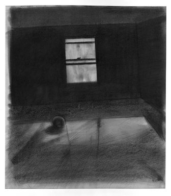 Robert Birmelin (American, born 1933). <em>Studio Window III</em>, 1959. Charcoal on paper, 35 x 27 1/2 in. (88.9 x 69.9 cm). Brooklyn Museum, Dick S. Ramsay Fund, 60.124.2. © artist or artist's estate (Photo: Brooklyn Museum, 60.124.2_acetate_bw.jpg)