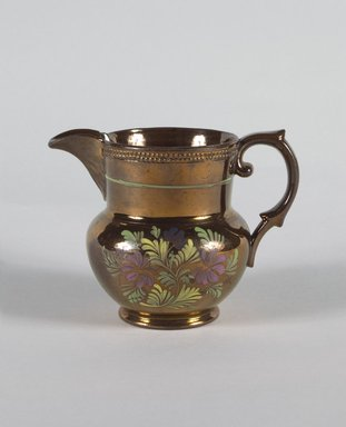 <em>Creamer</em>, ca. 1820. Copper, 4 5/16 in. (11 cm). Brooklyn Museum, Gift of Florence Stone Harder, 60.134.13. Creative Commons-BY (Photo: Brooklyn Museum, 60.134.13_PS5.jpg)
