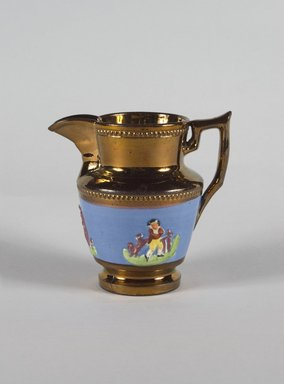 <em>Creamer</em>, ca. 1820. Copper, 4 13/16 in. (12.2 cm). Brooklyn Museum, Gift of Florence Stone Harder, 60.134.17. Creative Commons-BY (Photo: Brooklyn Museum, 60.134.17_PS5.jpg)