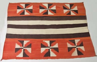 Navajo. <em>Chief's Blanket</em>, ca. 1880. Wool, dye, 66 9/16 x 47 5/8 in.  (169.0 x 121.0 cm). Brooklyn Museum, Gift of Thomas Watters, Jr., 60.145.1. Creative Commons-BY (Photo: Brooklyn Museum, 60.145.1_PS5.jpg)