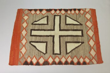 Navajo. <em>Blanket</em>. Wool, 56 11/16 x 39in. (144 x 99cm). Brooklyn Museum, Gift of Thomas Watters, Jr., 60.145.2. Creative Commons-BY (Photo: Brooklyn Museum, 60.145.2_PS5.jpg)