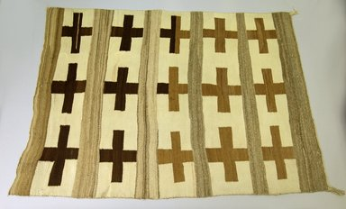 Navajo. <em>Rug</em>, ca. 1890. Wool, 67 11/16 x 51 15/16 in.  (171.9 x 132.0 cm). Brooklyn Museum, Gift of Thomas Watters, Jr., 60.145.4. Creative Commons-BY (Photo: Brooklyn Museum, 60.145.4_PS5.jpg)