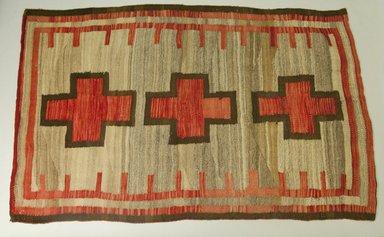 Navajo. <em>Rug</em>. Wool, dye, 68 1/8 x 43 5/16in. (173 x 110cm). Brooklyn Museum, Gift of Thomas Watters, Jr., 60.145.5. Creative Commons-BY (Photo: Brooklyn Museum, 60.145.5_PS5.jpg)