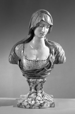 <em>Portrait Bust on Plinth</em>. Porcelain Brooklyn Museum, Gift of Emily Winthrop Miles, 60.198.12. Creative Commons-BY (Photo: Brooklyn Museum, 60.198.12_acetate_bw.jpg)