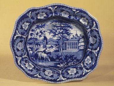 John and William Ridgway (active 1814-1830). <em>Vegetable Dish</em>, ca. 1825. Earthenware, 9 3/4 x 11 1/4 in. (24.8 x 28.6 cm). Brooklyn Museum, Gift of Mrs. William C. Esty, 60.213.170. Creative Commons-BY (Photo: Brooklyn Museum, 60.213.170.jpg)