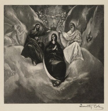 Timothy Cole (American, 1852-1931). <em>Coronation of the Virgin, after El Greco</em>, n.d. Wood engraving Brooklyn Museum, Gift of Margaret Mower, 60.56 (Photo: Brooklyn Museum, 60.56_PS4.jpg)