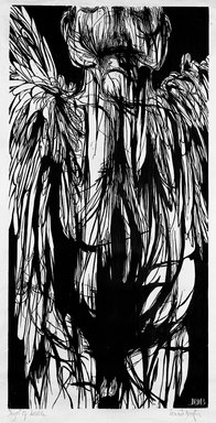 Leonard Baskin (American, 1922-2000). <em>Angel of Death</em>, 1960. Woodcut Brooklyn Museum, Dick S. Ramsay Fund, 60.60. © artist or artist's estate (Photo: Brooklyn Museum, 60.60_bw.jpg)