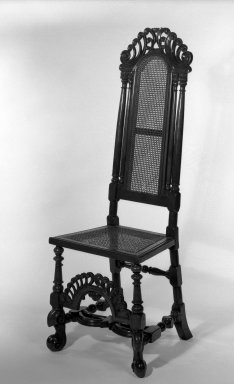 <em>High-back Side Chair</em>. Walnut Brooklyn Museum, Gift of Mrs. Cheever Porter, 61.115.4. Creative Commons-BY (Photo: Brooklyn Museum, 61.115.4_bw.jpg)