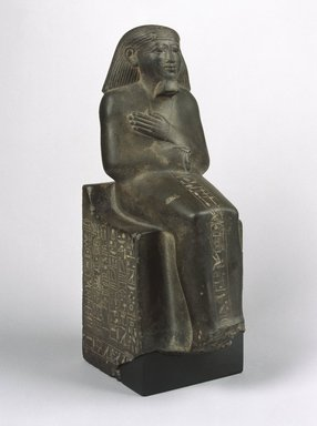 <em>Ahmose, also known as Ruru</em>, ca. 1478-1458 B.C.E. Graywacke, 15 x 5 1/4 x 7 1/2 in. (38.1 x 13.4 x 19 cm). Brooklyn Museum, Charles Edwin Wilbour Fund, 61.196. Creative Commons-BY (Photo: Brooklyn Museum, 61.196_SL1.jpg)