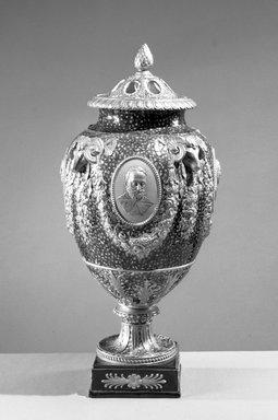 <em>Vase</em>. Brooklyn Museum, Gift of Emily Winthrop Miles, 61.199.1. Creative Commons-BY (Photo: Brooklyn Museum, 61.199.1_acetate_bw.jpg)